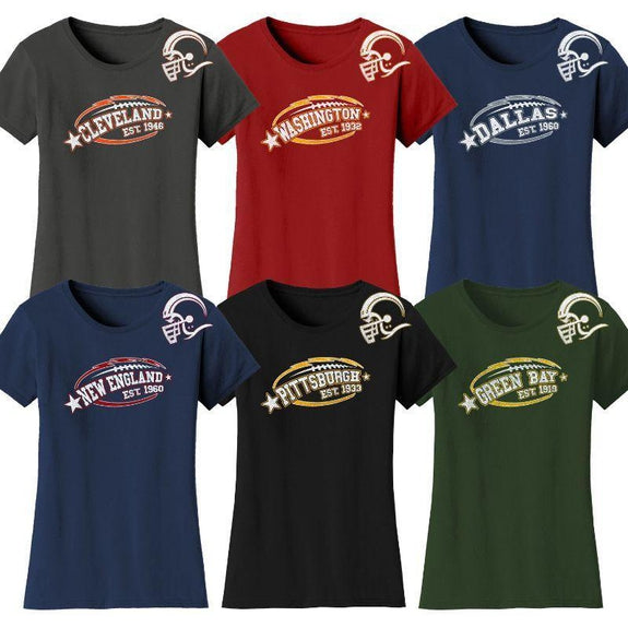 Women's All-Star Football T-Shirts-Daily Steals
