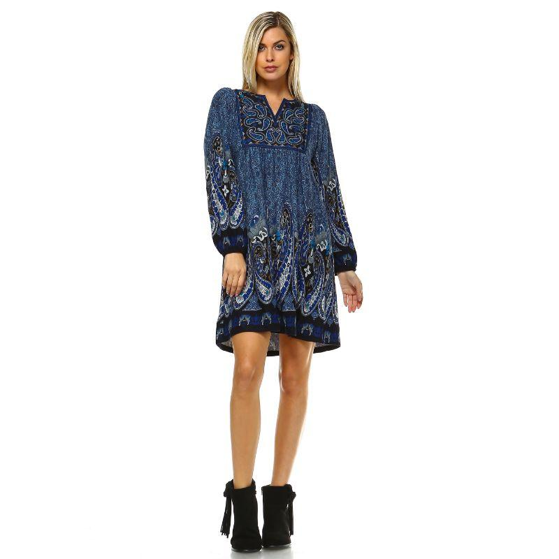 Women's Apolline Embroidered Sweater Dress by Whitemark-Blue-L-Daily Steals