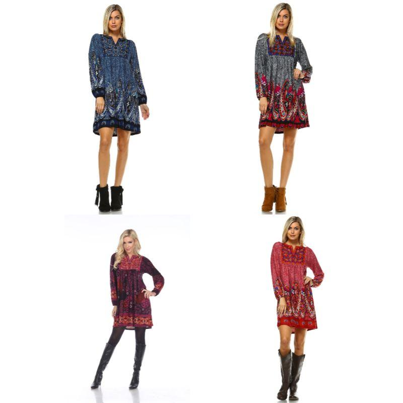 Women's Apolline Embroidered Sweater Dress by Whitemark-Daily Steals