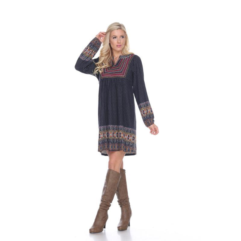 Women's Atarah Embroidered Sweater Dress by Whitemark-Grey-L-Daily Steals