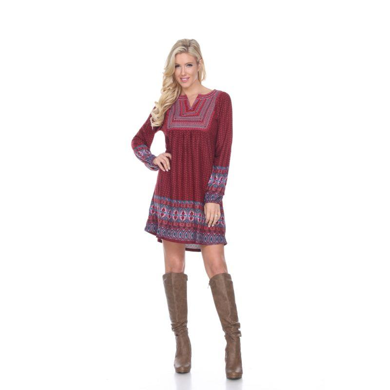 Women's Atarah Embroidered Sweater Dress by Whitemark-Red-XL-Daily Steals