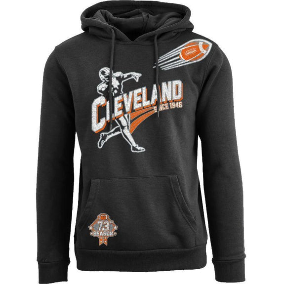 Women's Ballers Football Pull Over Hoodie-Cleveland - Black-S-Daily Steals