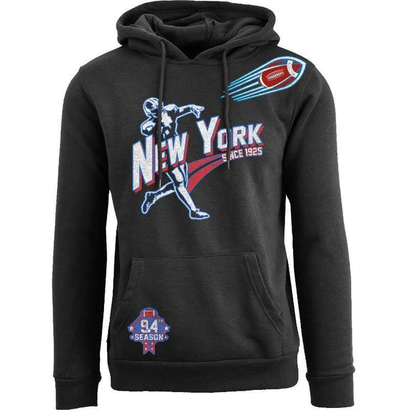 Women's Ballers Football Pull Over Hoodie-New York - Black-S-Daily Steals