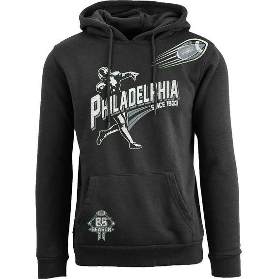 Women's Ballers Football Pull Over Hoodie-Philadelphia - Black-S-Daily Steals