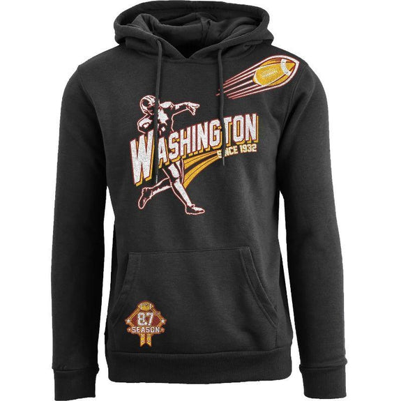 Women's Ballers Football Pull Over Hoodie-Washington - Black-S-Daily Steals