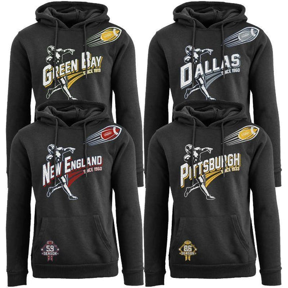 Women's Ballers Football Pull Over Hoodie-Daily Steals