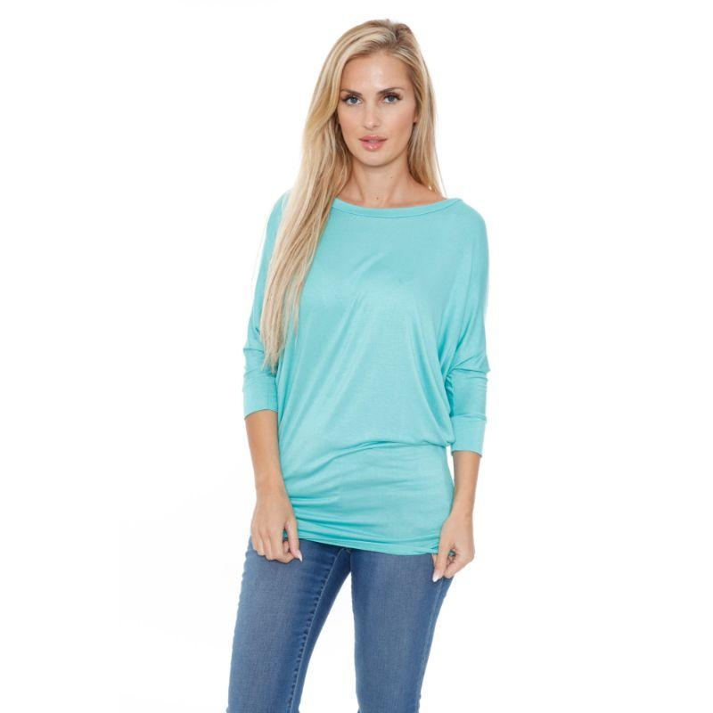 Women's Banded Dolman Top by Whitemark-Mint-S-Daily Steals