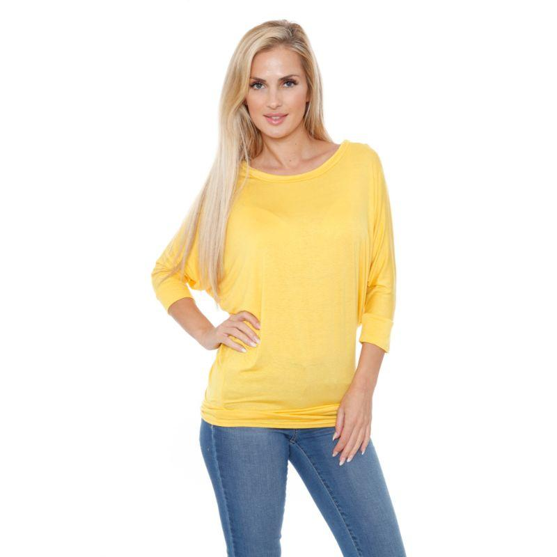 Women's Banded Dolman Top by Whitemark-Navy-M-Daily Steals