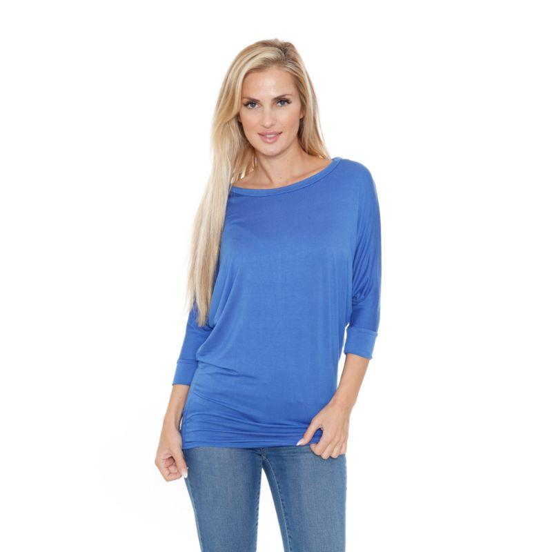 Women's Banded Dolman Top by Whitemark-Royal-L-Daily Steals