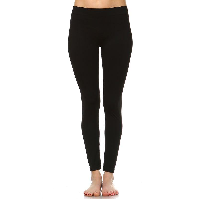 Women's Basic Solid Color Leggings by Whitemark-Black-Daily Steals