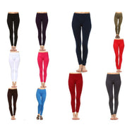 Women's Basic Solid Color Leggings by Whitemark-Daily Steals