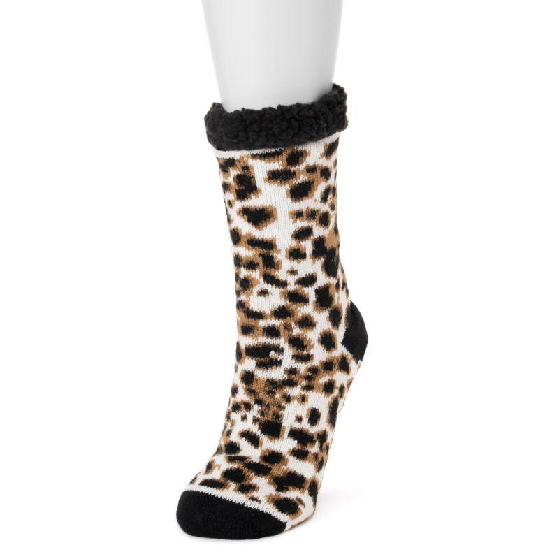 Women's Betsey Johnson Cabin Socks-Cheetah-S/M (5-7)-Daily Steals