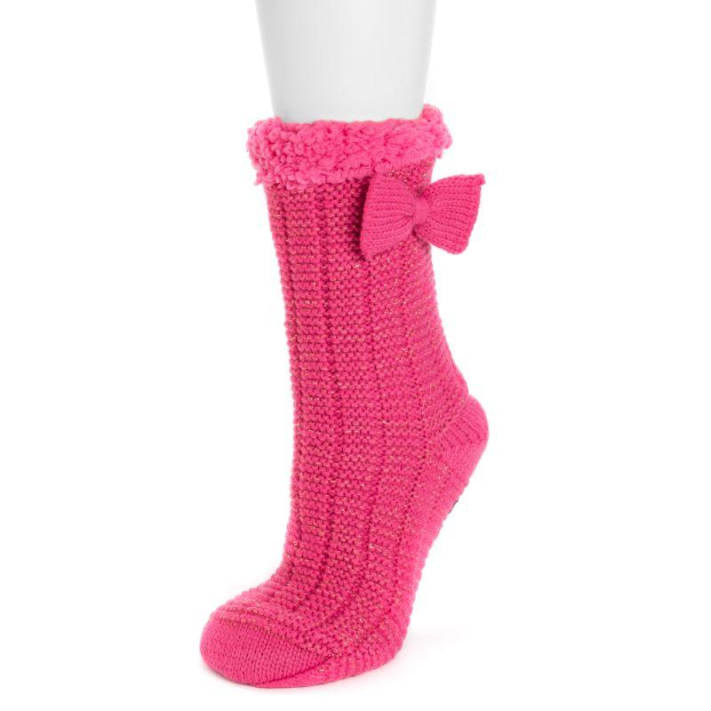 Women's Betsey Johnson Cabin Socks-Pink-S/M (5-7)-Daily Steals