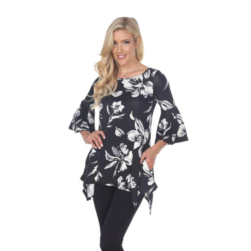 Women's Blanche Tunic Top by Whitemark-Black-M-Daily Steals