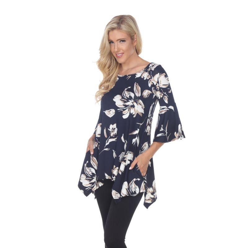 Women's Blanche Tunic Top by Whitemark-Navy-XL-Daily Steals