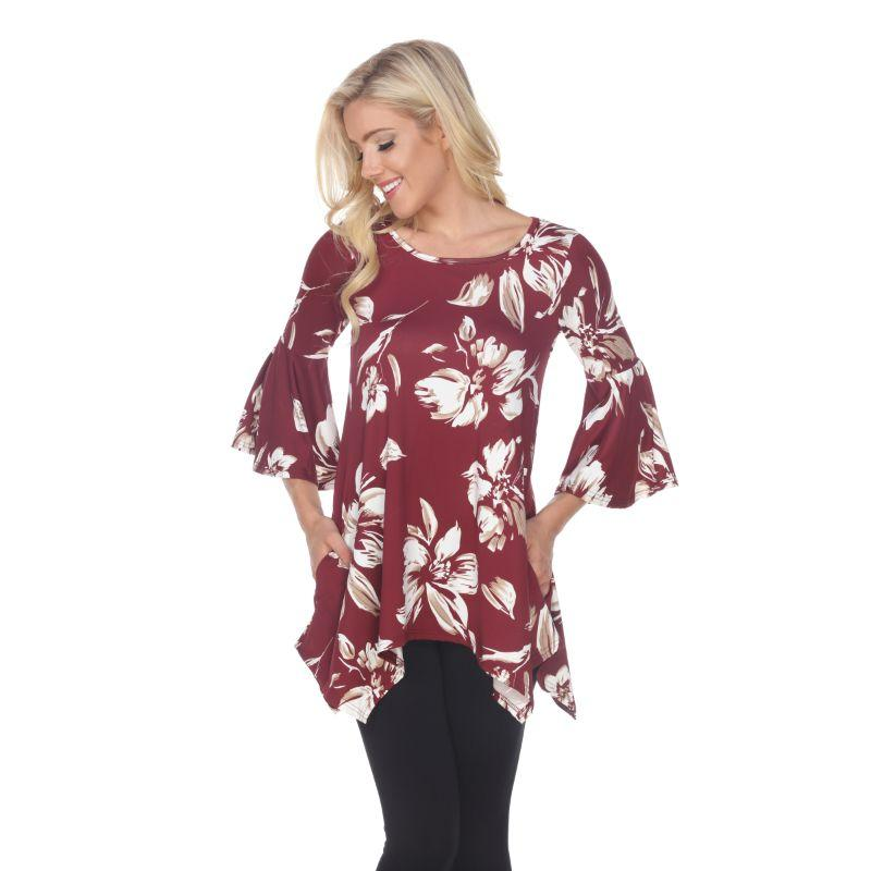 Women's Blanche Tunic Top by Whitemark-Red-M-Daily Steals