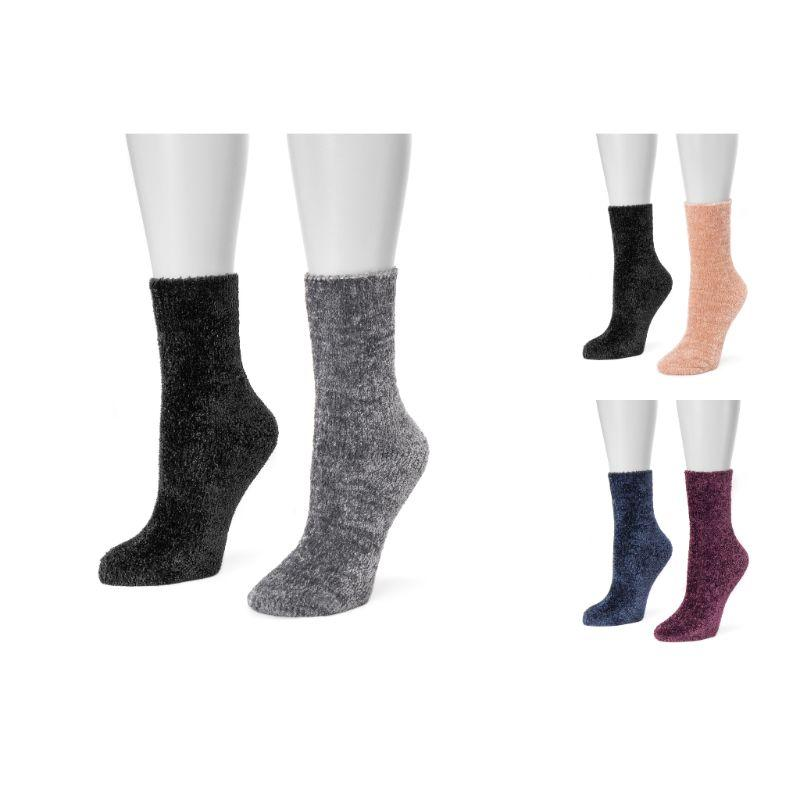 Women's Chenille Boot Socks by Muk Luks - 2 Pack-Daily Steals