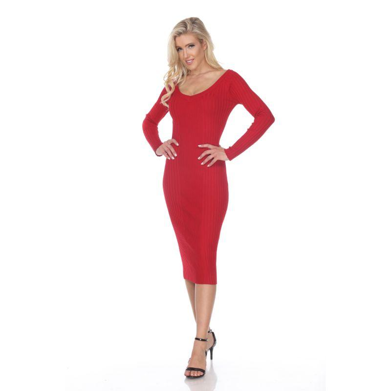 Women's Destiny Sweater Dress by Whitemark-Red-L-Daily Steals