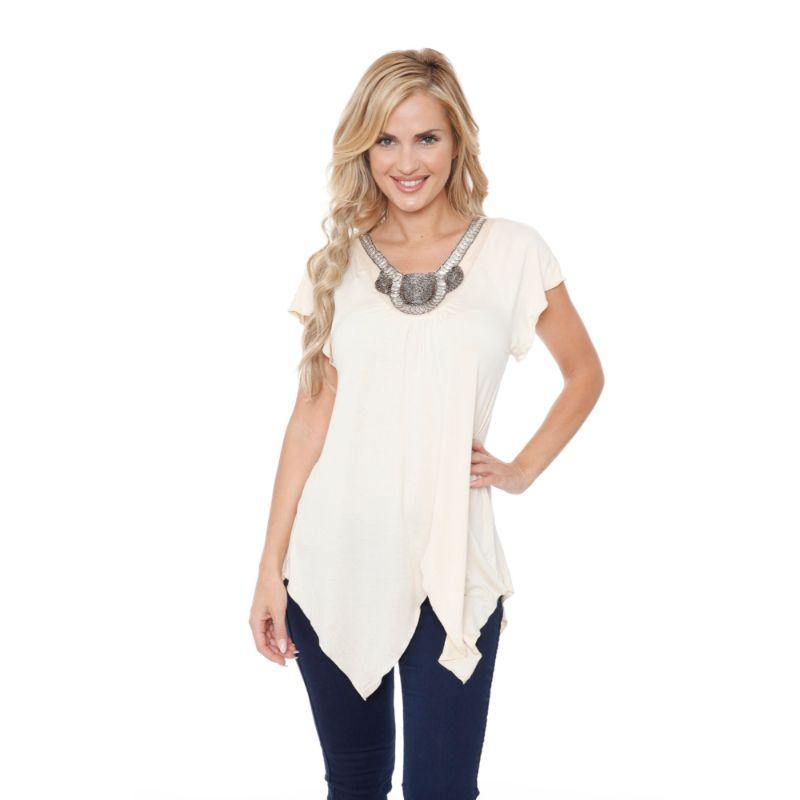 Women's Fenella Tunic Top by Whitemark-Beige-S-Daily Steals