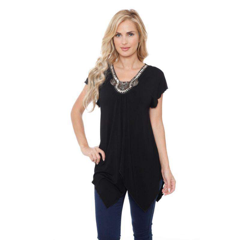 Women's Fenella Tunic Top by Whitemark-Black-L-Daily Steals