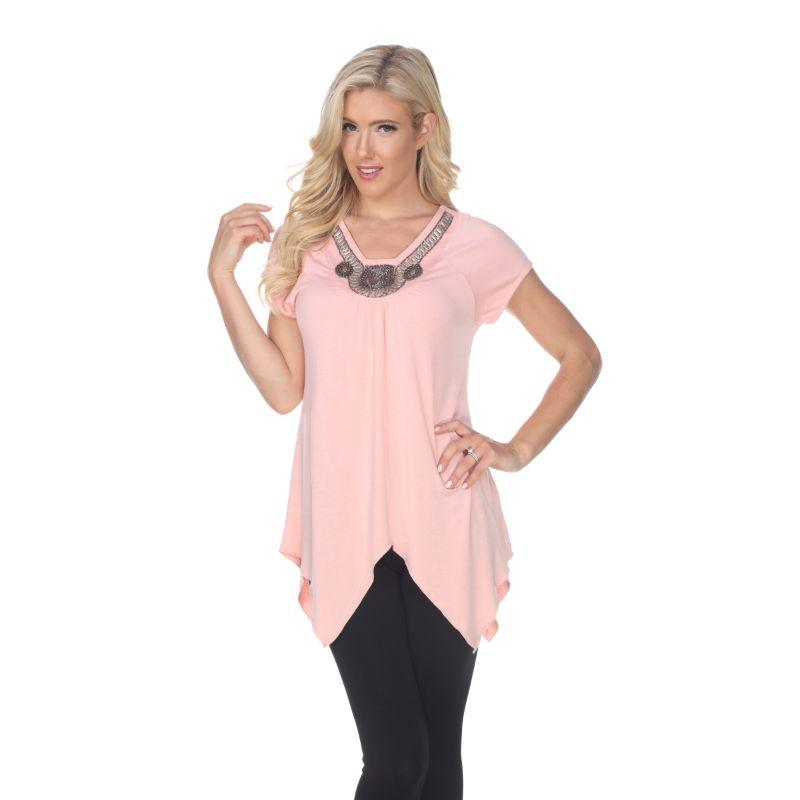 Women's Fenella Tunic Top by Whitemark-Coral Pink-L-Daily Steals