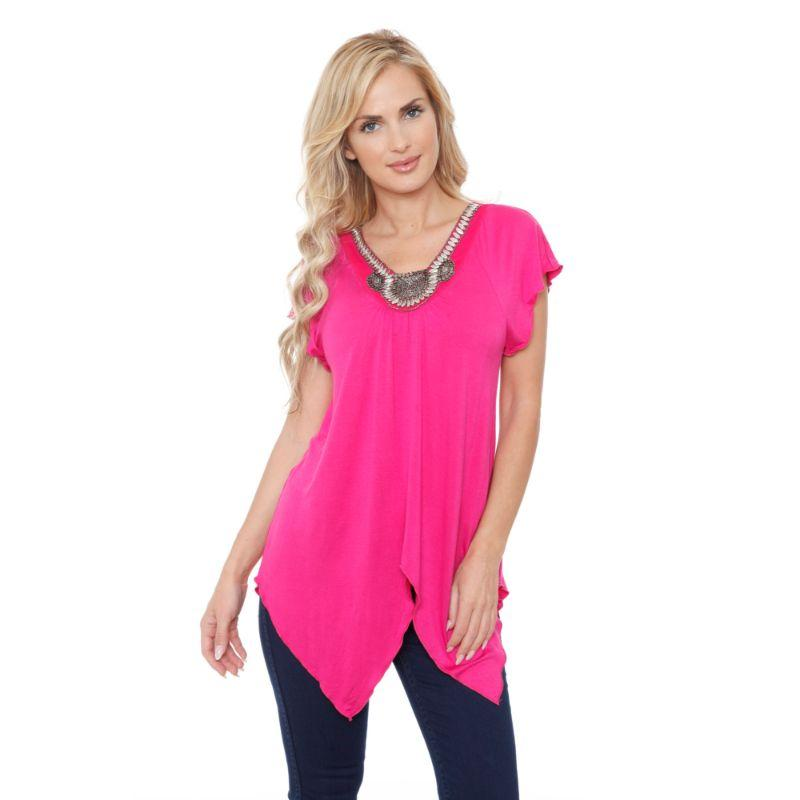 Women's Fenella Tunic Top by Whitemark-Fuchsia-L-Daily Steals