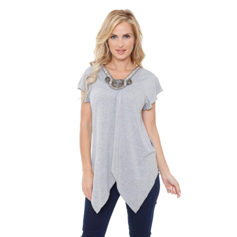 Women's Fenella Tunic Top by Whitemark-Gray-L-Daily Steals