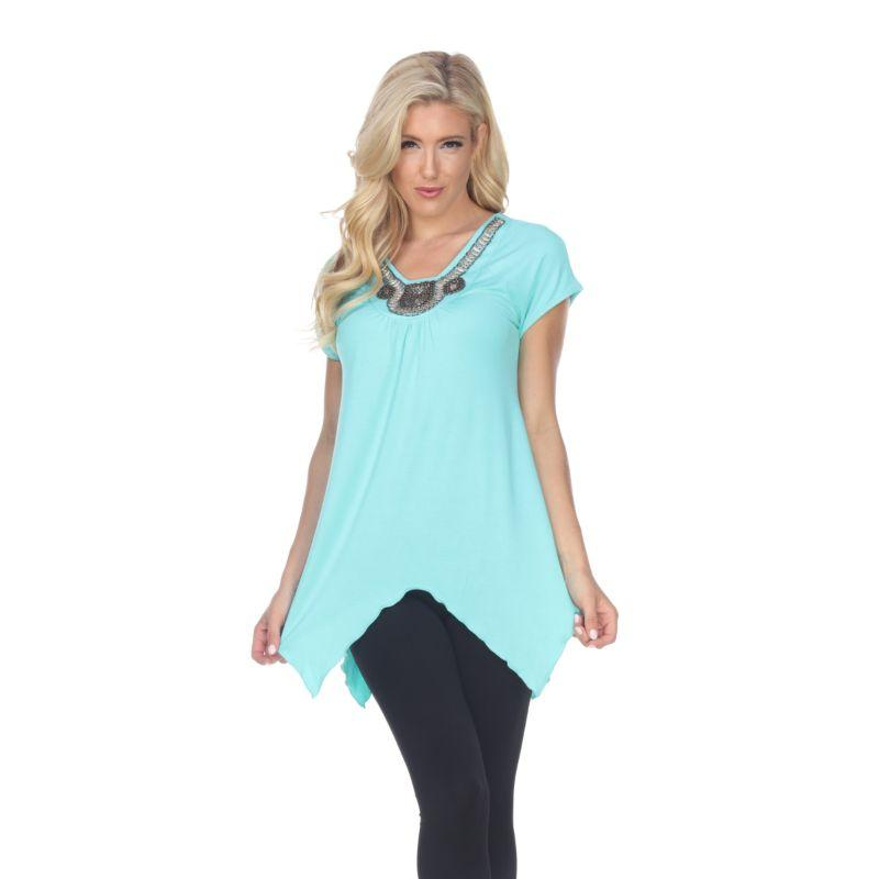 Women's Fenella Tunic Top by Whitemark-Mint-XL-Daily Steals