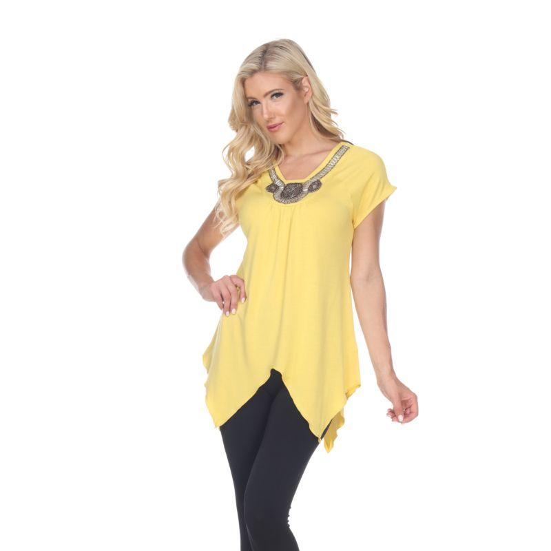 Women's Fenella Tunic Top by Whitemark-Mustard-L-Daily Steals