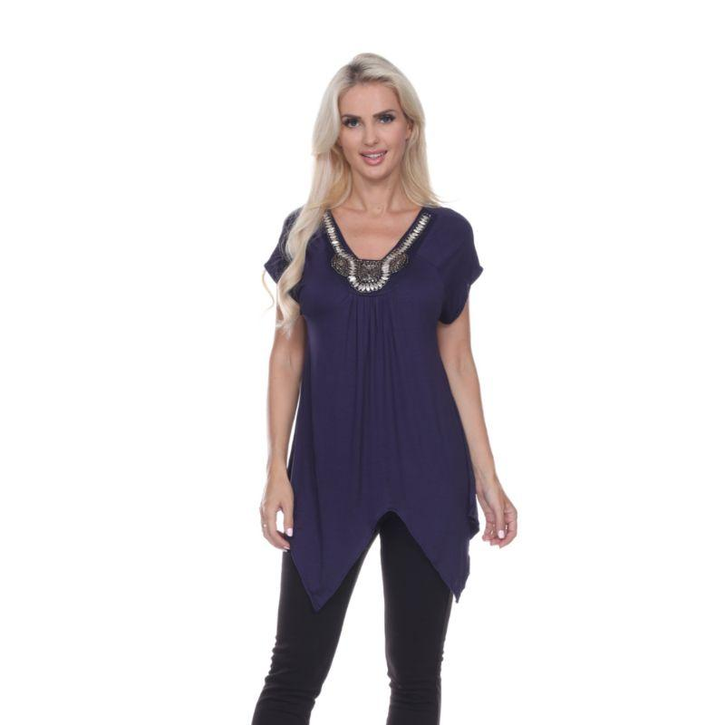 Women's Fenella Tunic Top by Whitemark-Navy-L-Daily Steals