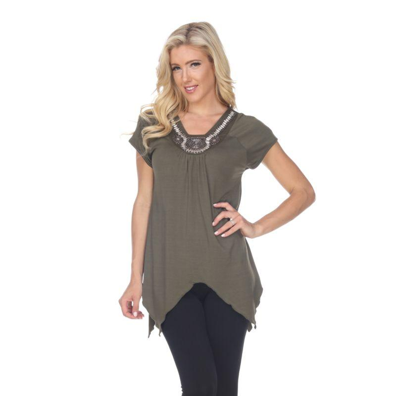 Women's Fenella Tunic Top by Whitemark-Olive-S-Daily Steals