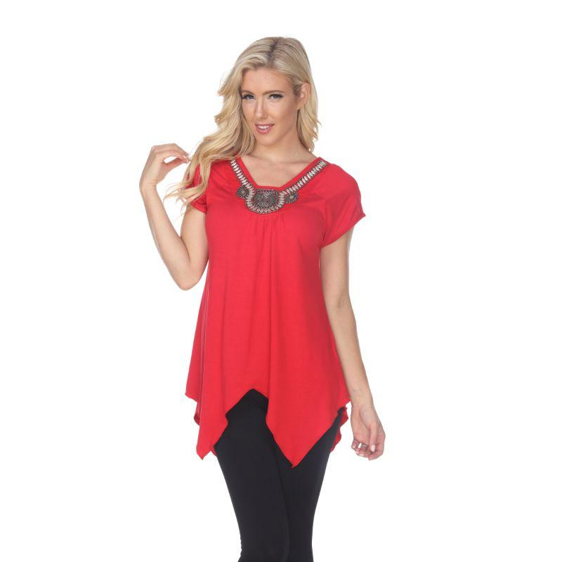 Women's Fenella Tunic Top by Whitemark-Red-L-Daily Steals