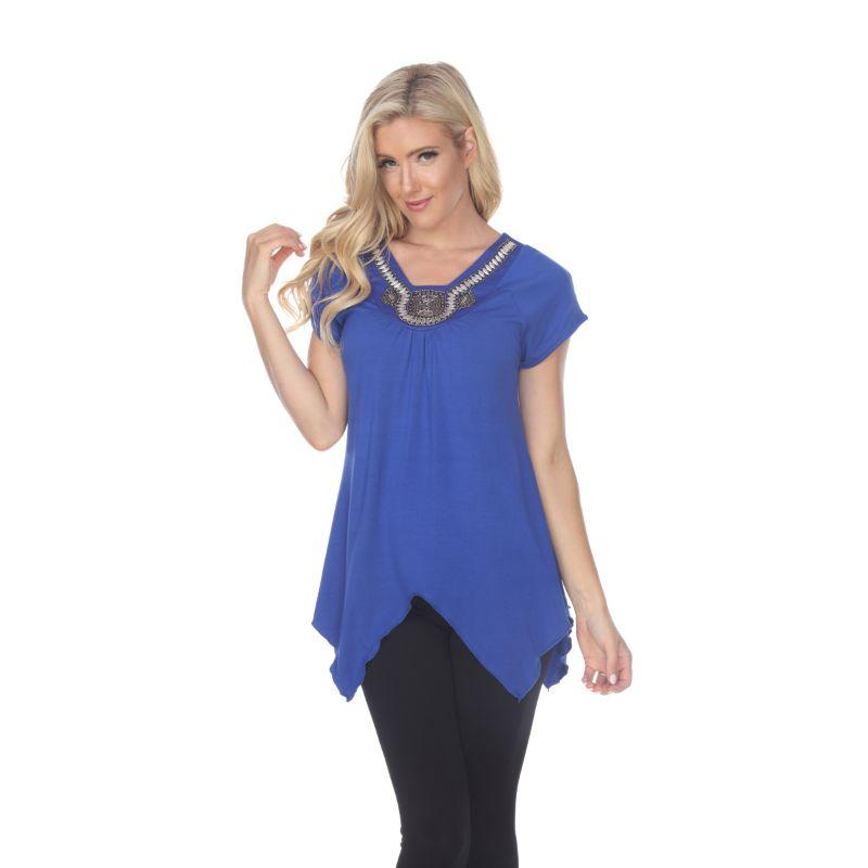 Women's Fenella Tunic Top by Whitemark-Royal Blue-S-Daily Steals
