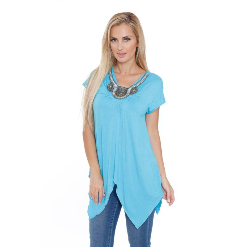 Women's Fenella Tunic Top by Whitemark-Teal-L-Daily Steals