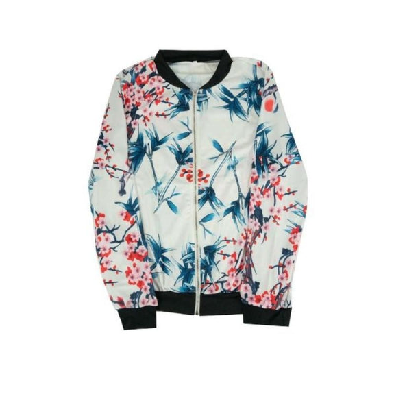 Women's Floral-Patterned Jacket-Ivory-Large (6-8)-Daily Steals
