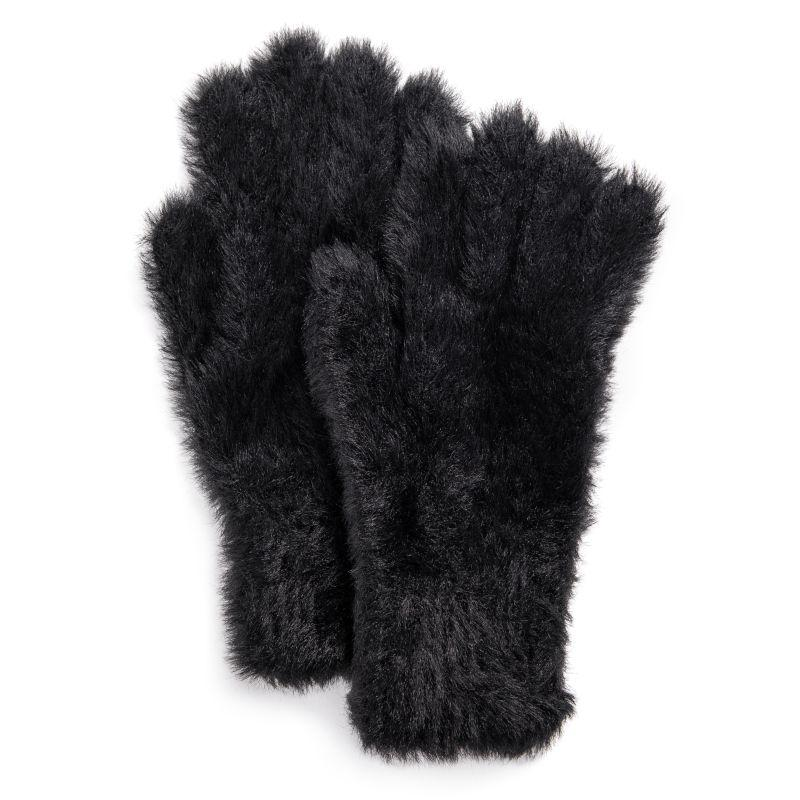 Women's Fuzzy Gloves by Muk Luks-Black-Daily Steals