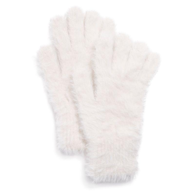 Women's Fuzzy Gloves by Muk Luks-Ivory-Daily Steals