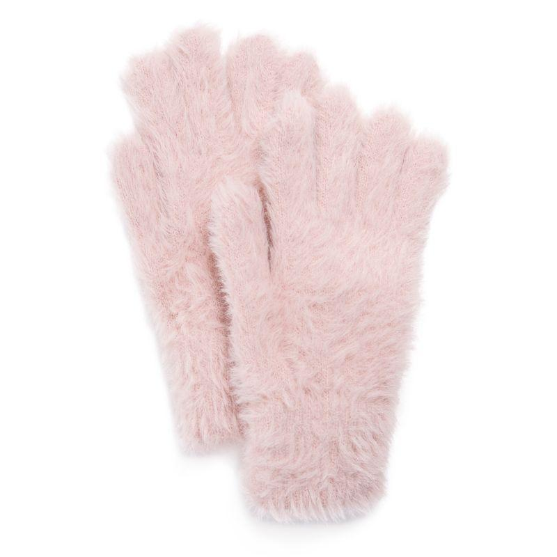 Women's Fuzzy Gloves by Muk Luks-Pink-Daily Steals