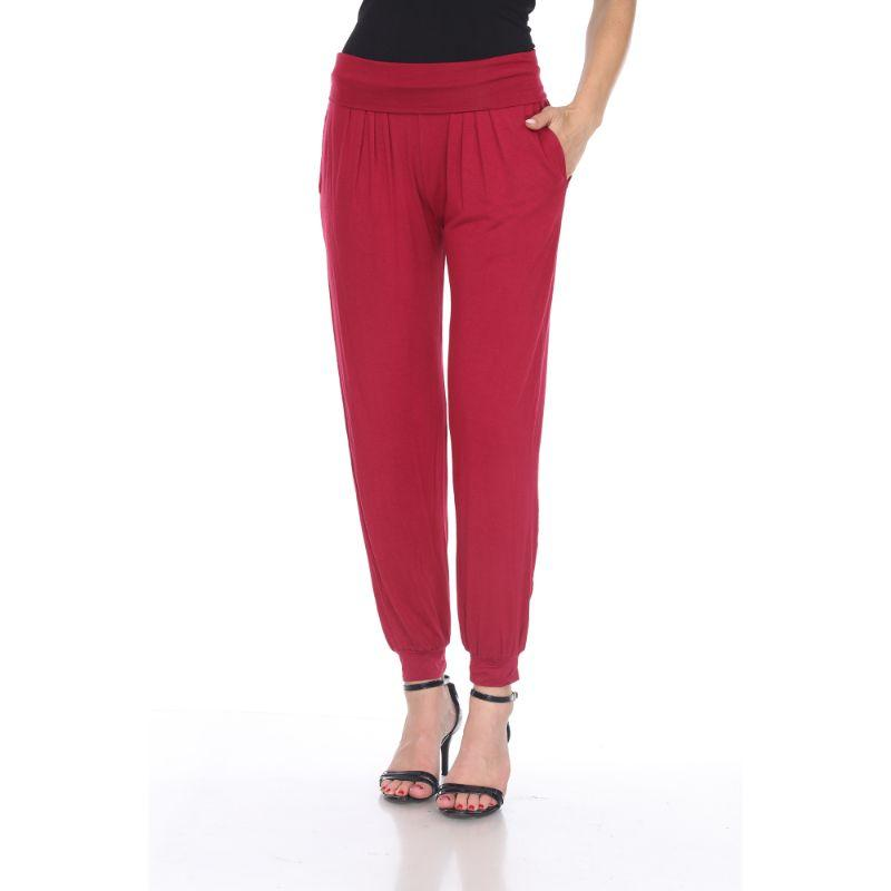 Women's Harem Pants by Whitemark-Brick Red-S-Daily Steals