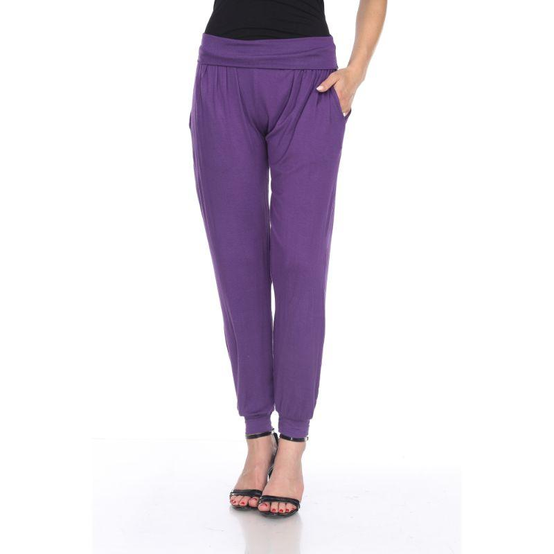 Women's Harem Pants by Whitemark-Purple-XL-Daily Steals