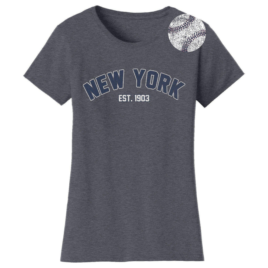 Daily Steals-Women's Home Run Baseball T-shirts-Women's Apparel-2XL-New York - Premium Heather Grey-