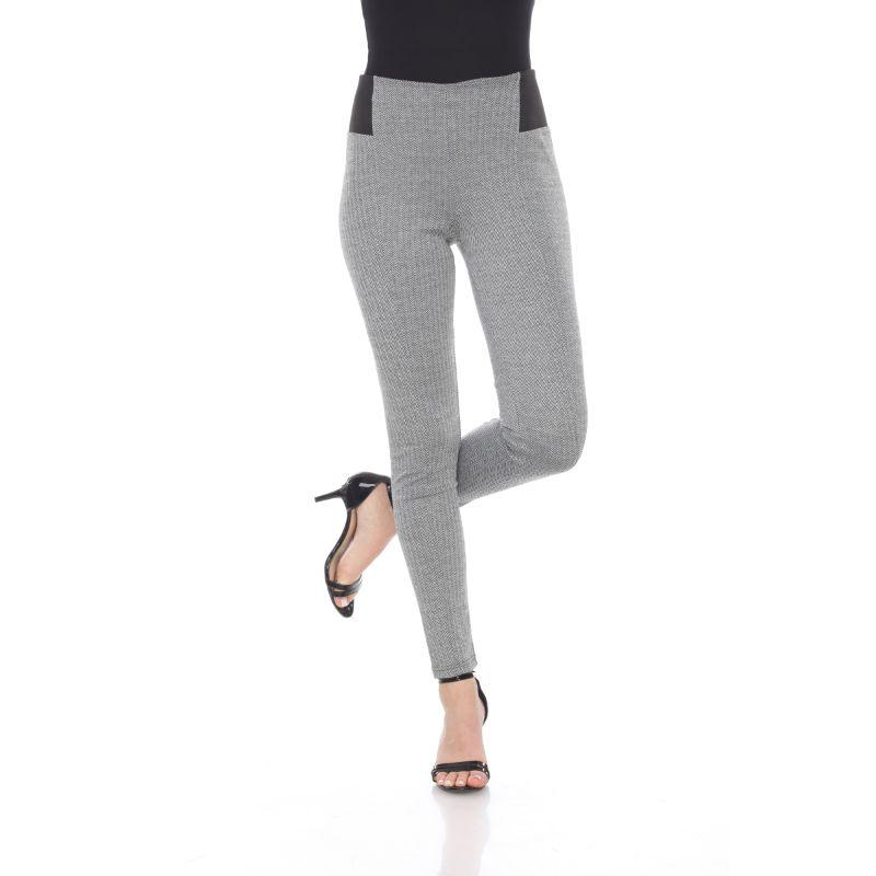 Women's Jacquard Slim Pants by Whitemark-Grey Row-L-Daily Steals