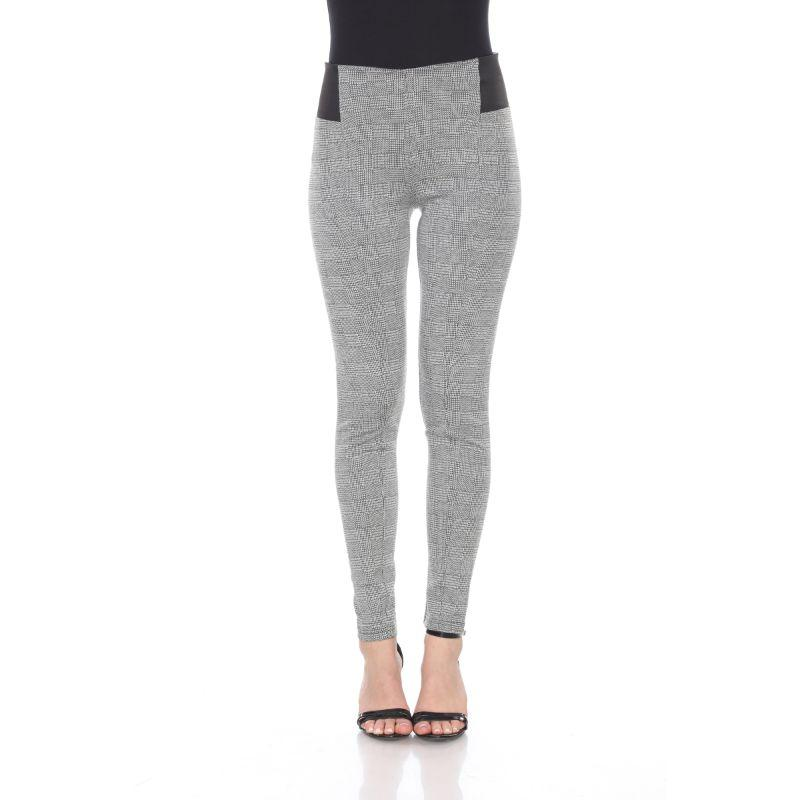 Women's Jacquard Slim Pants by Whitemark-Grey Square-L-Daily Steals