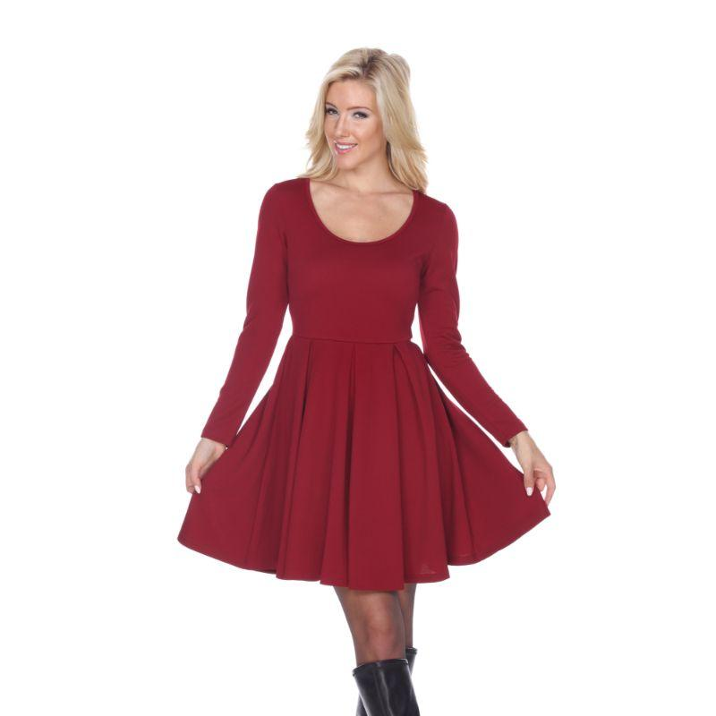 Women's Jenara' Dress by Whitemark-Burgundy-X-Large-Daily Steals