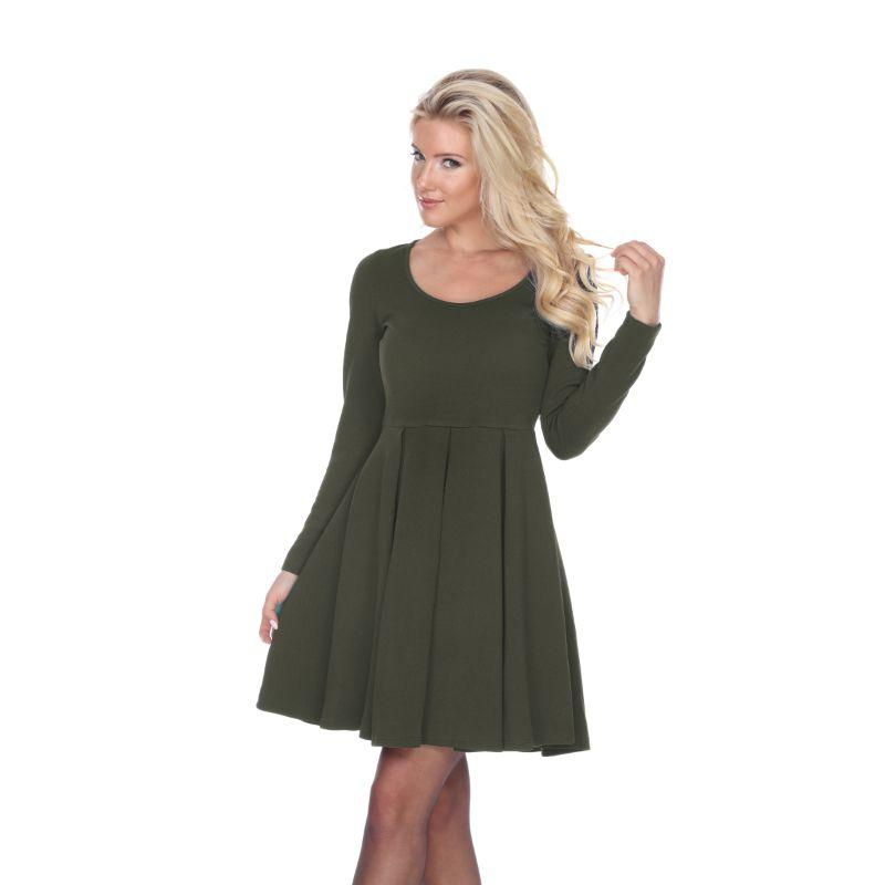 Women's Jenara' Dress by Whitemark-Olive-Small-Daily Steals