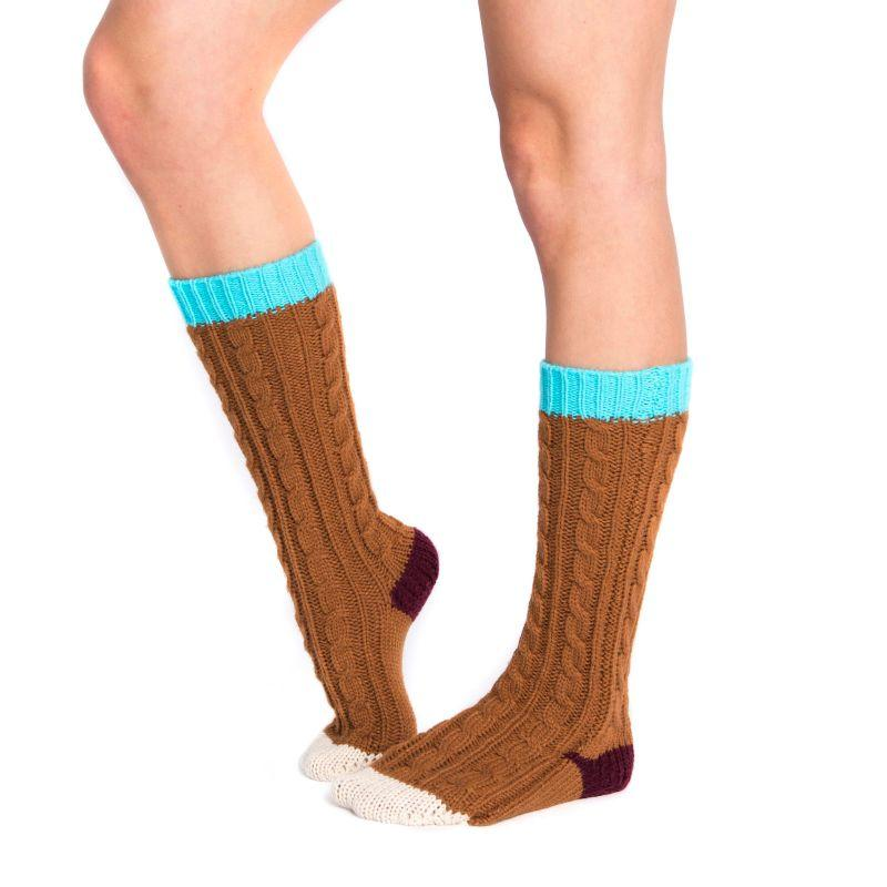 Women's Knee High Socks by Muk Luks-Brown-Daily Steals