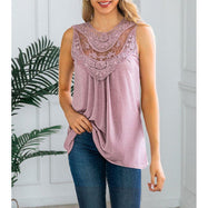Women's Lace Front Scoop Top by Lilly Posh-Daily Steals