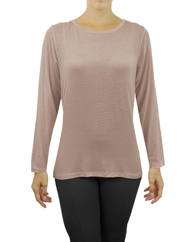 Daily Steals-Women's Lightweight Long Sleeve Stretch Tee-Women's Apparel-Mocha-Small-