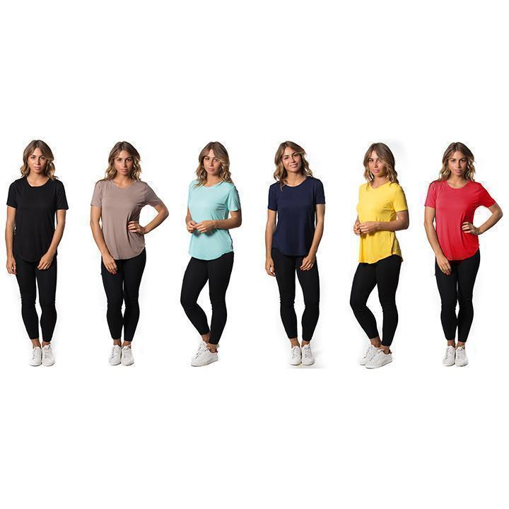 Daily Steals-Womens Lightweight Stretch Tees - Assorted Colors - 3 Pack-Women's Apparel-X-Small-Short Sleeve-