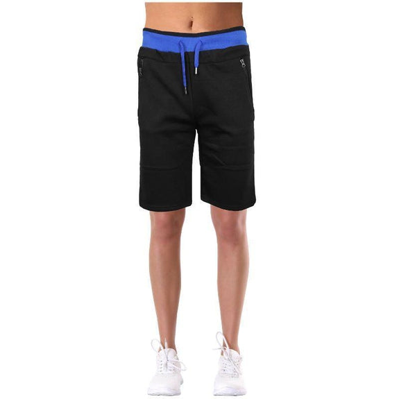 Women's LooseFit Fleece Bermuda Lounge Shorts-Black-2XL-